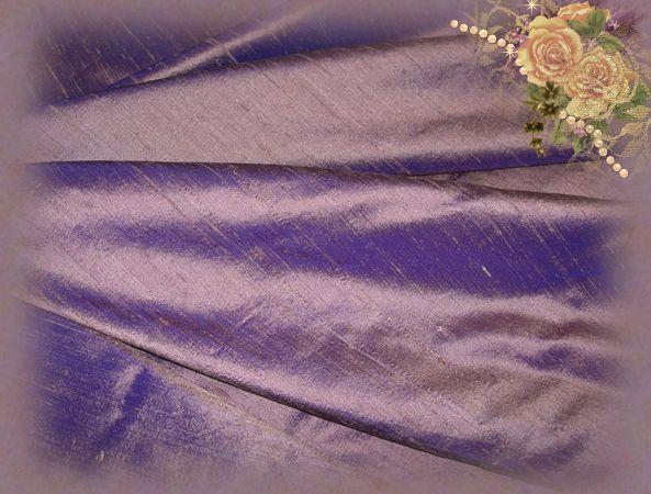 Bronzed Violet Dupioni Silk