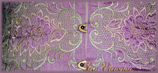 Detail of embroidery available on our corsets