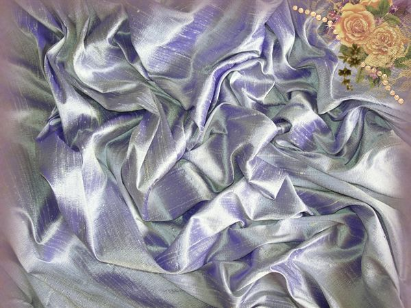 French Lilac Dupioni Silk