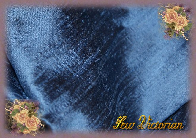 Frosted Blue Dupioni Silk