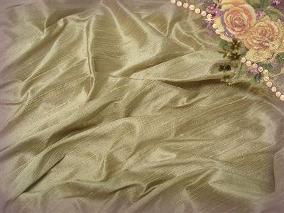 White Truffle Dupioni Silk